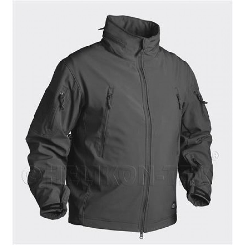GIACCA SOFTSHELL - GUNFIGHTER - BLACK - HELIKON